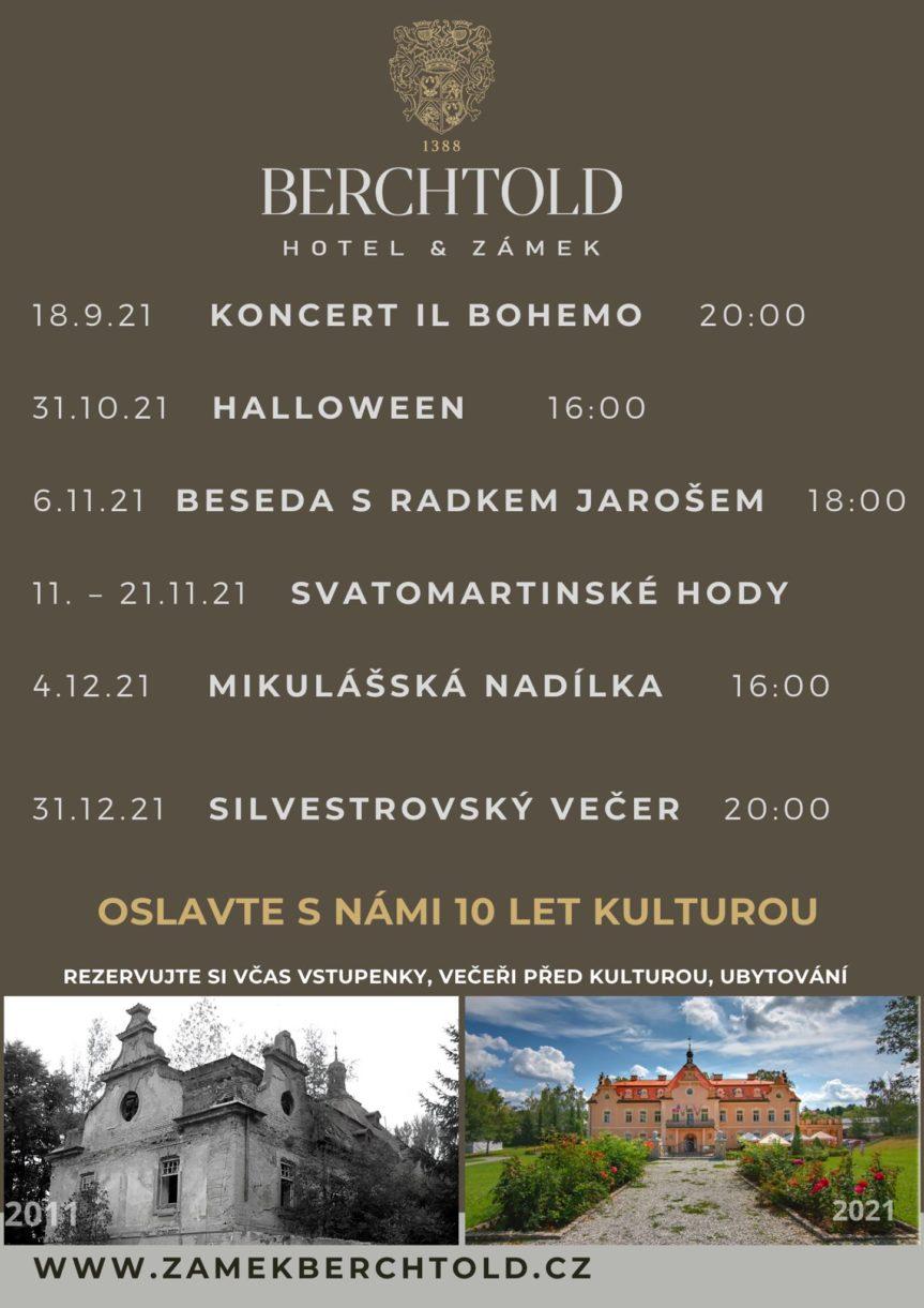 Zámek Berchtold slaví 10 let kulturou